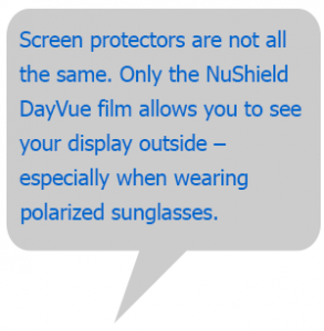anti reflective screen protectors for outdoor use on cameras, phones, ipads, tablets and laptops