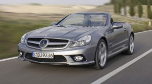 Mercedes SL350 with car screen protector