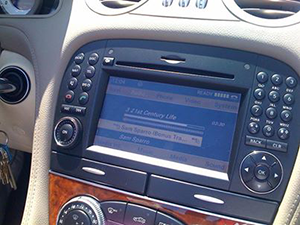 Mercedes Comand Navigation Screen Prodtected with NuShield DayVue Screen Protector