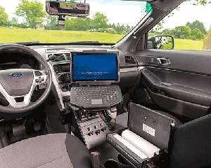 NuShield DayVue screen protectors installed on police fleet laptops